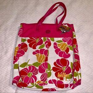 NWT✨ Billabong Pink Floral Laptop Bag